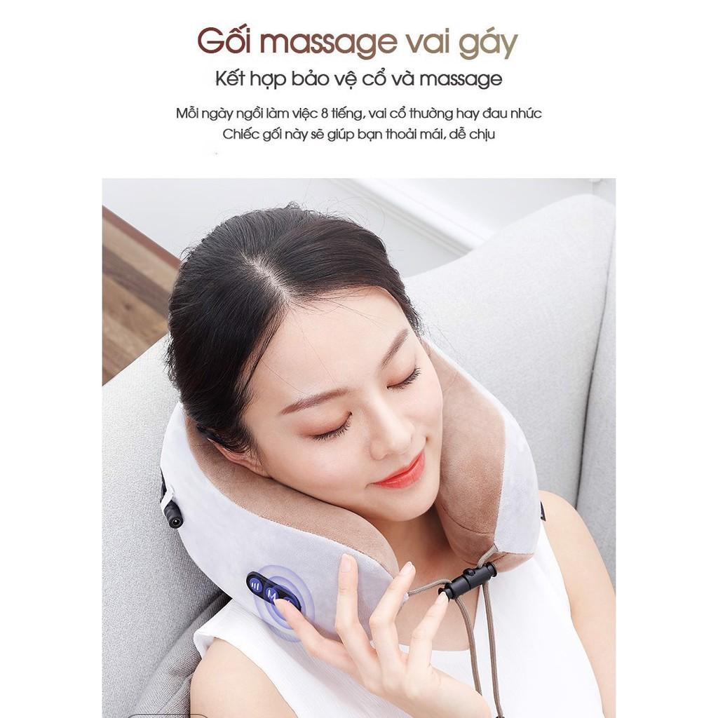 Kết quả hình ảnh cho Gối massage cổ chữ U loại xịn