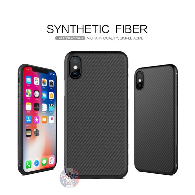 Ốp lưng Nillkin Carbon Synthetic Fiber cho Iphone X