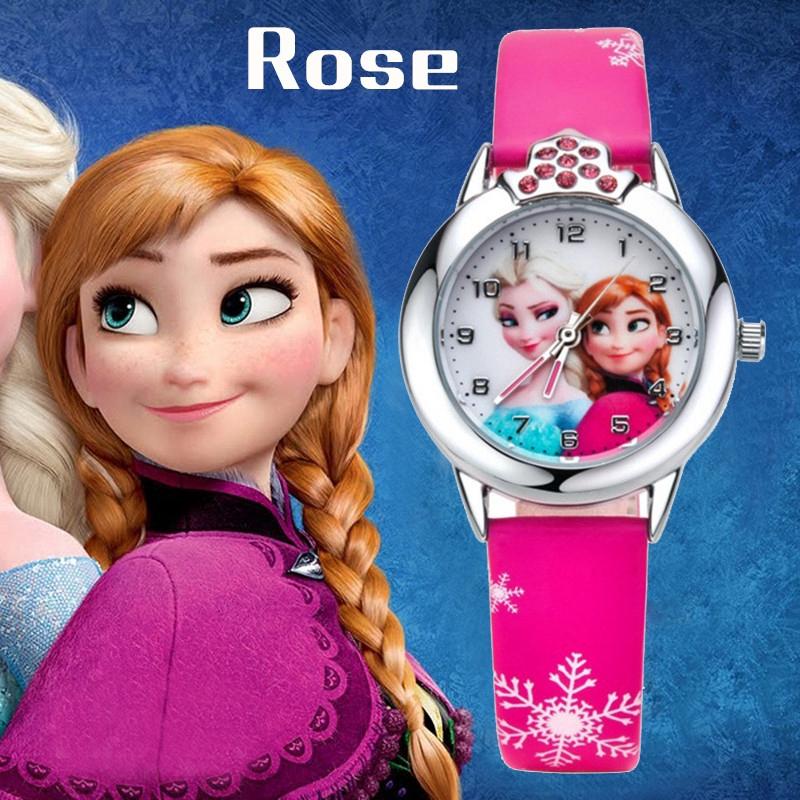 [Mã FASHIONCB73 hoàn 10K xu 50K] Đồng hồ đeo tay họa tiết Elsa thời trang cho bé