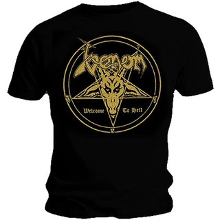 Ripleys Clothing Venom 'Welcome To Hell' T-Shirt Short sleeve Print graphic Loose Casual Cotton