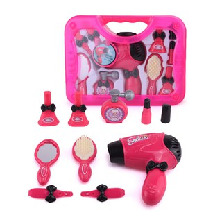 Toy Girls Play Toys Hair Salon Makeup Preschool Plastic Children Set Kit New