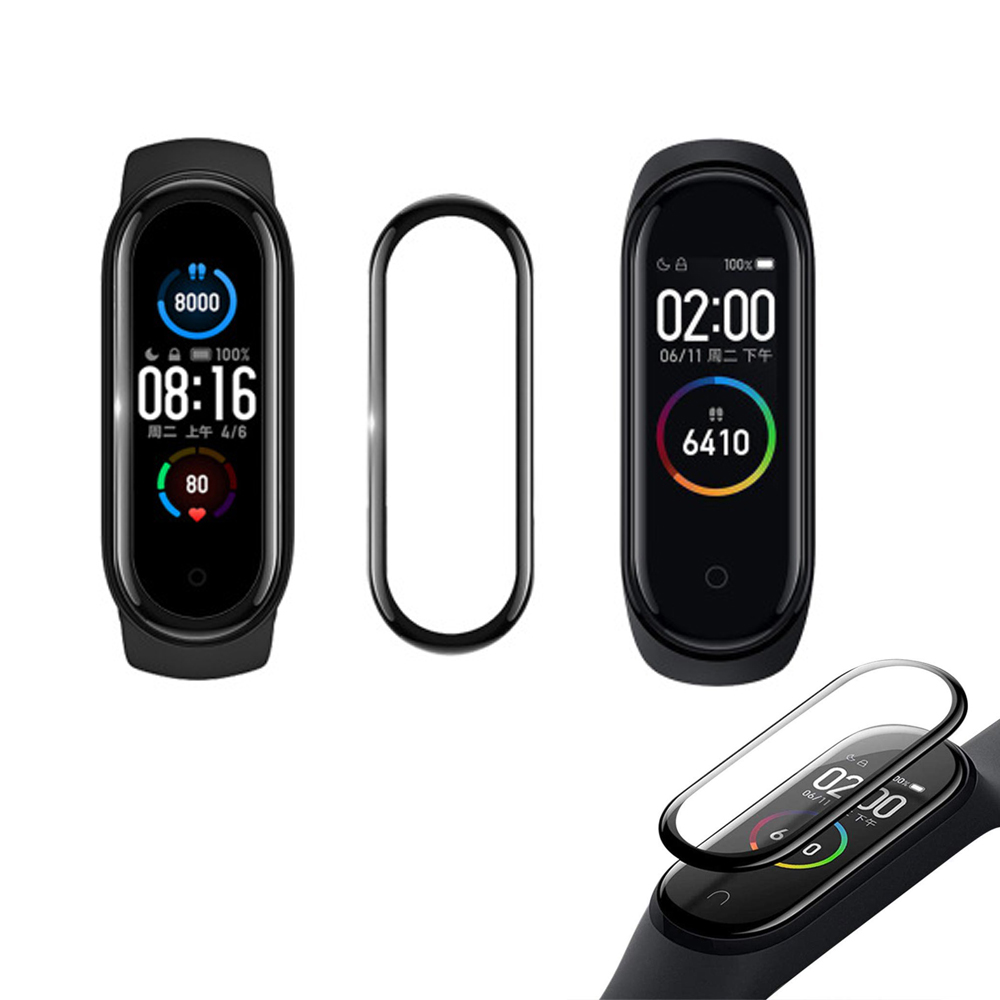 Miếng dán PET 3D bảo vệ toàn màn hình cho đồng hồ Xiaomi Mi Band 4 5 Miband 4 5