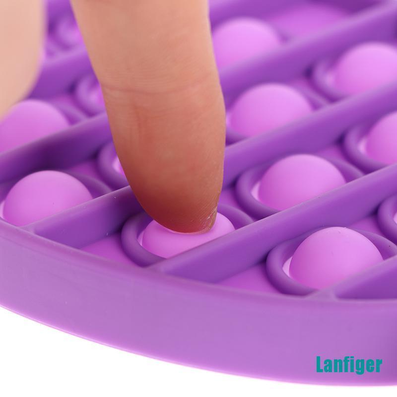 【Lanfiger】1Pcs Fish Push Bubble Sensory Toy Autism Needs Stress Reliever Toys Adult Kid