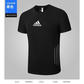 Áo thun thể thao Adidas kiểu cổ điển ngắn tay nhanh khô cá tính cho nam