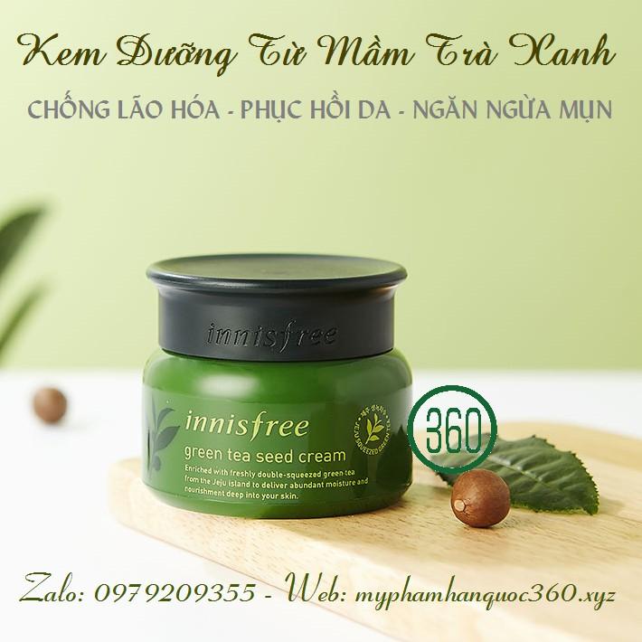 [Mẫu cải tiến 2018] Kem Dưỡng Từ Mầm Trà Xanh – Innisfree Green Tea Seed Cream
