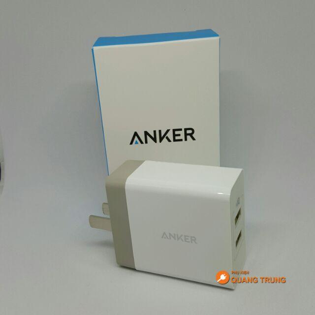 SẠC ANKER 2 CỔNG 5V-2.4A
