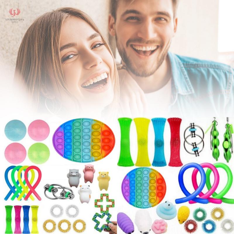 1 Set Sensory Toys Different Interesting Sensory Fidget Toys Set Stress Relief Toy For Kid Adult