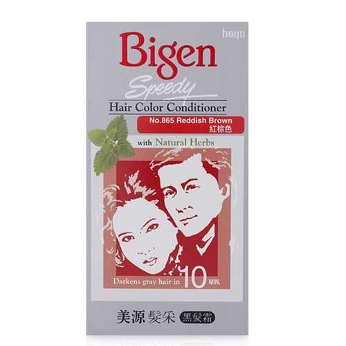 Thuốc nhuộm tóc thảo dược Bigen Speedy Hair Color D865 - Nâu Đỏ