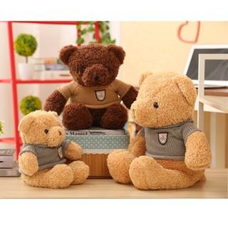 Gấu bông Teddy mặc áo chất liệu cao cấp cho trẻ em (VNXK size 40cm)