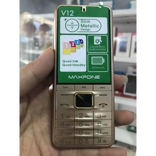 [CỰC CHẤT] Điện Thoại VV12 4 SIM pin 2000 mah - tự ghi âm cuộc gọi loa to, chữ to, (HÀNG CHÍNH HÃNG) thumbnail