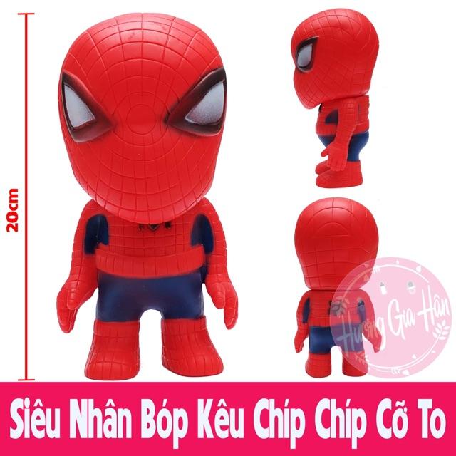 Siêu nhân Người Nhện Spiderman Bóp Kêu Chíp Chíp Giúp Bé Tăng Cường Khả Năng Vận Động & Thính Giác