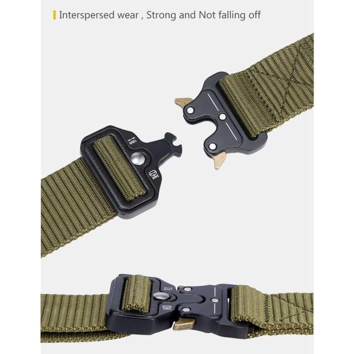 Thắt lưng vải Canvas kiểu quân đội kích thước 125cm