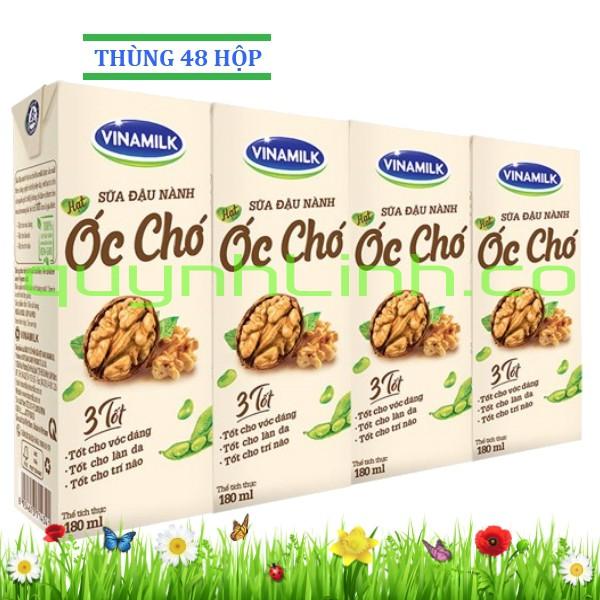 Sữa đậu nành Vinamilk hạt óc chó 180ml: Thùng 48 hộp - 3397033 , 1048009374 , 322_1048009374 , 287760 , Sua-dau-nanh-Vinamilk-hat-oc-cho-180ml-Thung-48-hop-322_1048009374 , shopee.vn , Sữa đậu nành Vinamilk hạt óc chó 180ml: Thùng 48 hộp