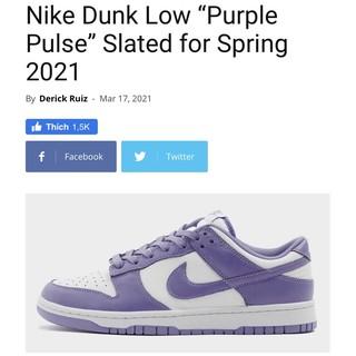 """[GeekSneaker] Giày Sneaker  Dunk Low """"Purple Pulse"""""""
