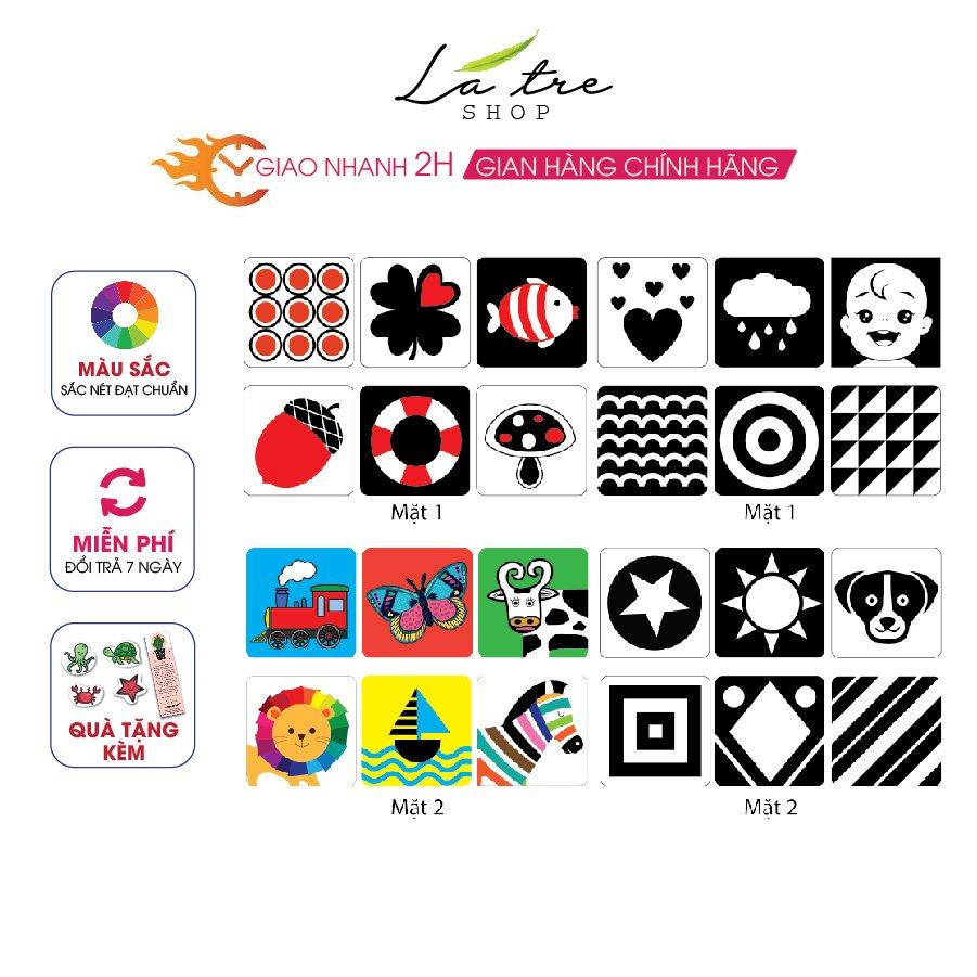 Bộ thẻ Flashcard thẻ kích thích thị giác theo phương pháp Montessori Cho Bé Từ 0-36 Tháng Tuổi Sơ Sinh 3005