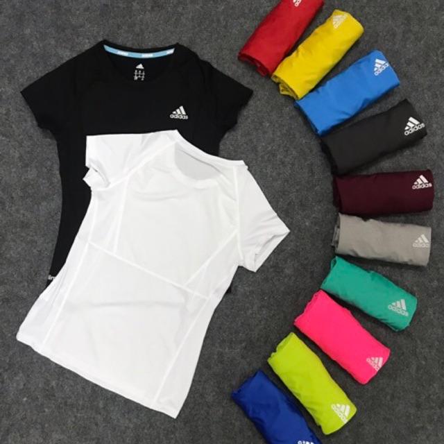 Áo tập gym yoga nữ, áo cộc tay thể thao phối lưới chất thun lạnh, co giãn tốt