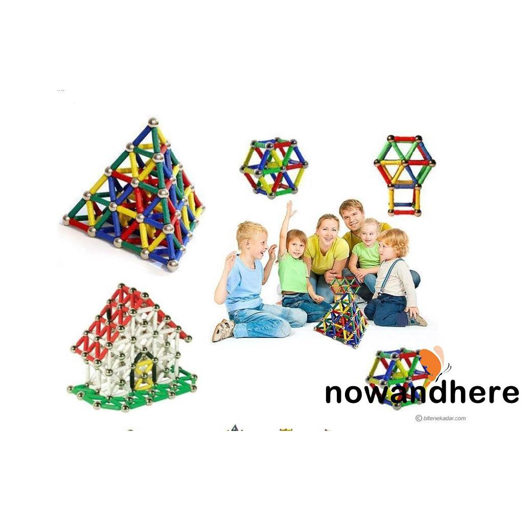 VWW-HOT Magnetic Construction Building Educational Blocks Kid Child Toys Gift