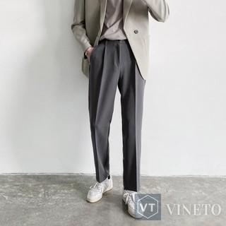 Quần baggy nam phong cách Hàn Quốc (đen,Xám), ống suông mặc co giãn, phù hợp đi học, đi làm