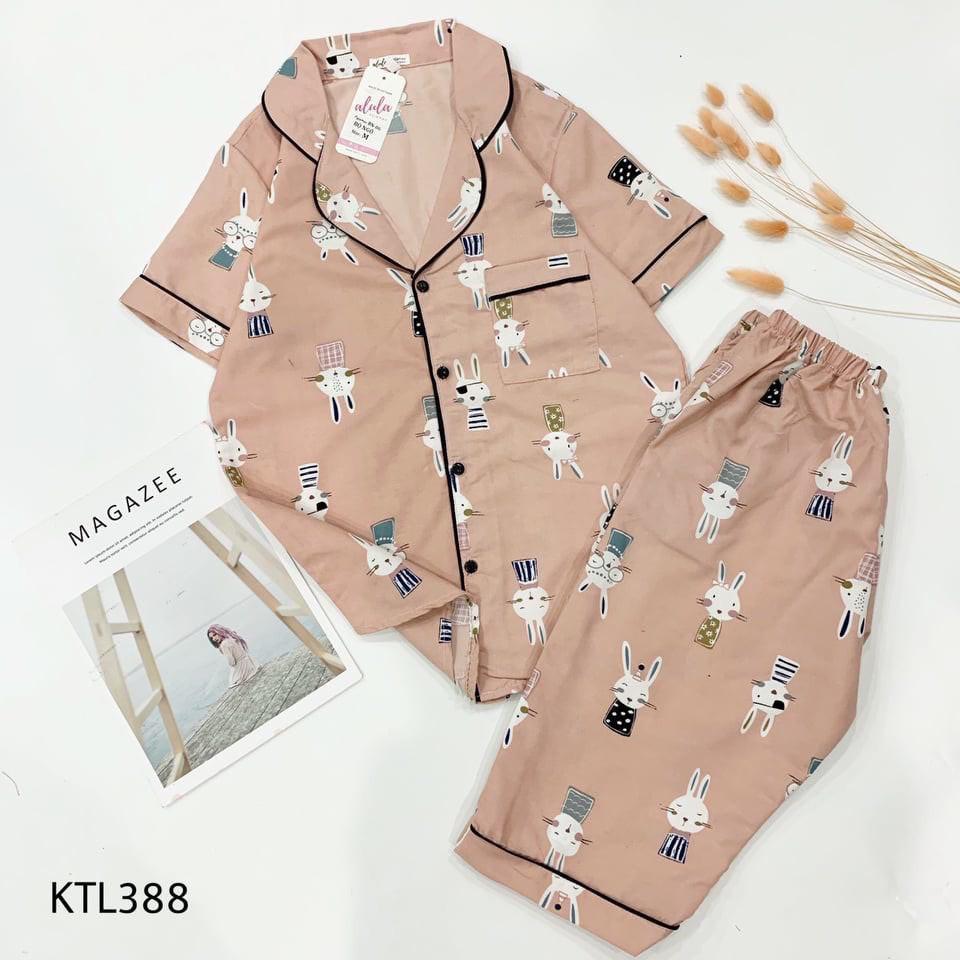 Mặc gì đẹp: Mát mẻ với Bộ pijama lụa áo cộc quần lửng bộ ngủ cao cấp mềm mại thoải mái dễ thương giá rẻ H24