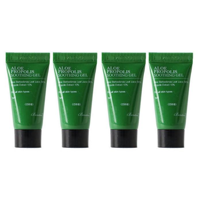[Đại lý chính thức] Bộ 4 Gel dưỡng ẩm cấp nước cho da nhạy cảm, da mụn Benton Aloe Propolis Soothing Gel (mini size 5ml)