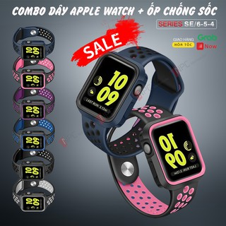 [🅲🅾🅼🅱🅾 2🅸🅽1] Dây Đeo Apple Watch và Ốp Chống Sốc Dành Cho Apple Watch Series SE/6/5/4 40mm 44mm Phiên Bản Thể Thao