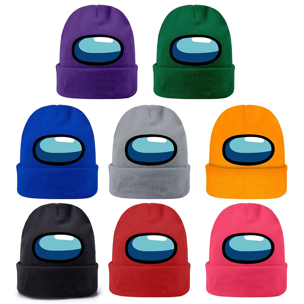 Among us Knitted hat colorful autumn and winter warm hat woolen hat cartoon men's and women's Pullover hat