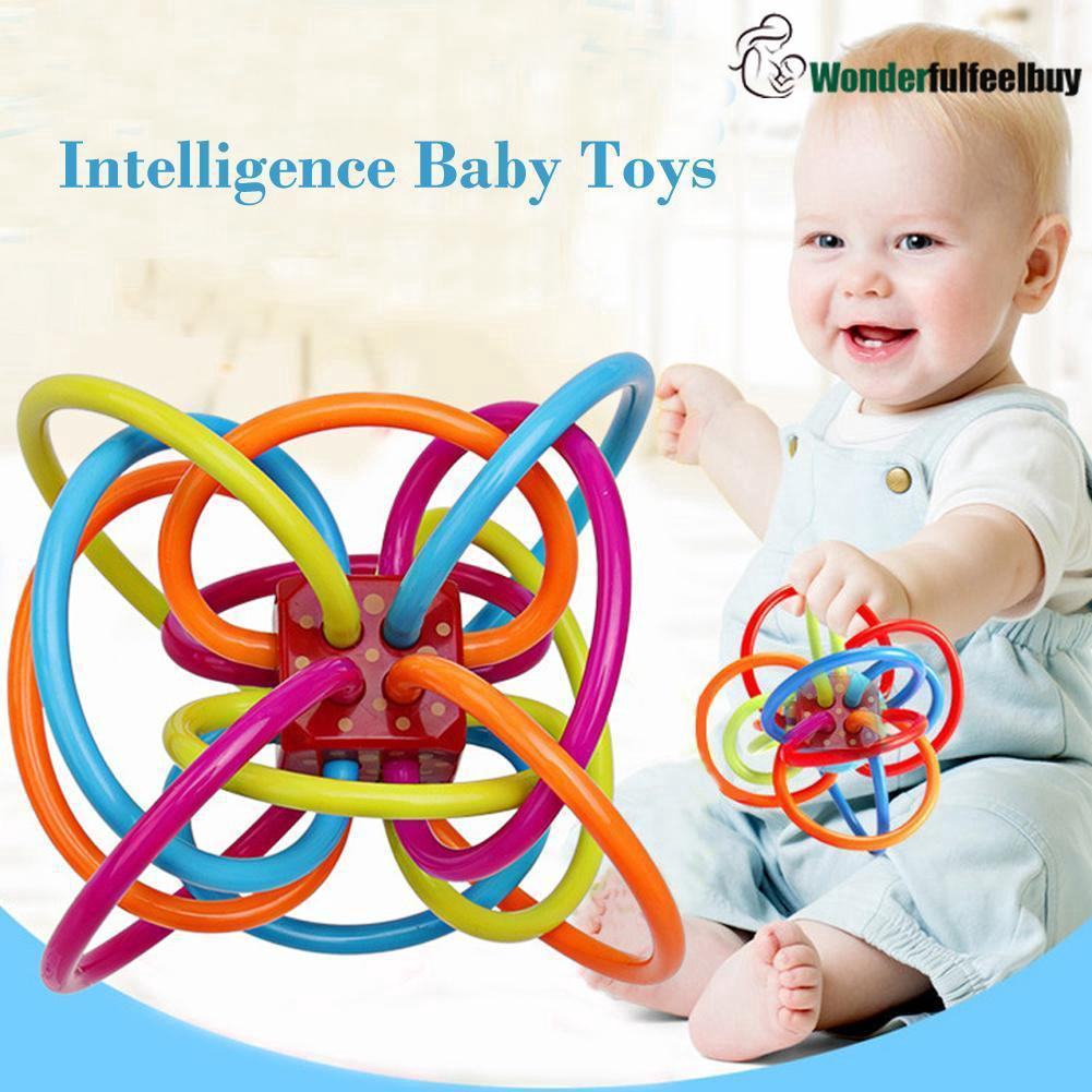 [ready stock]Baby Tooth Ball Baby Chews Teether Rattles Developing Toy Hand Bell