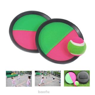 Parent Child With Adjustable Strap Throwing Interactive Outdoor Sports Racket Sucker Sticky Catch Ball Game Set