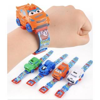 Đồng hồ điện tử đeo tay cho bé biến hình siêu xe