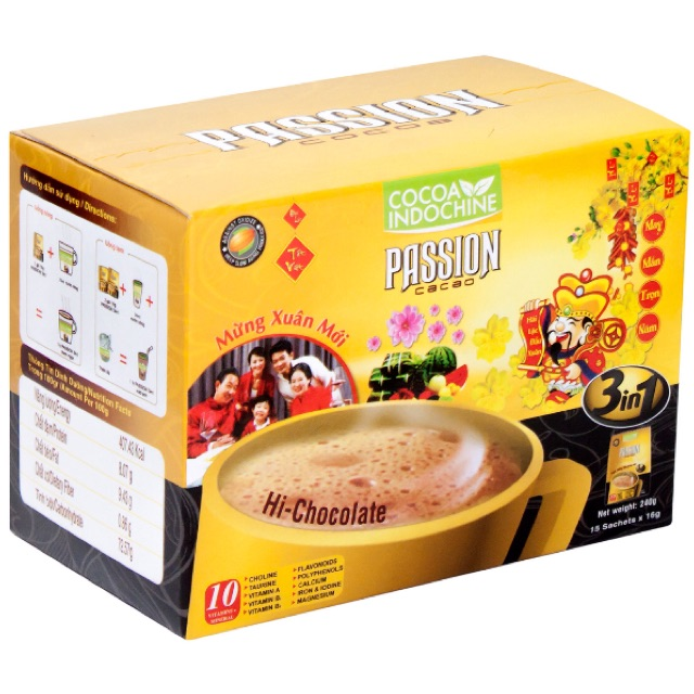 Bột Cacao Hòa Tan Passion 3 In 1 Cocoa Indochine (Hộp 15 Gói x 16g) - 2550704 , 797185129 , 322_797185129 , 90000 , Bot-Cacao-Hoa-Tan-Passion-3-In-1-Cocoa-Indochine-Hop-15-Goi-x-16g-322_797185129 , shopee.vn , Bột Cacao Hòa Tan Passion 3 In 1 Cocoa Indochine (Hộp 15 Gói x 16g)