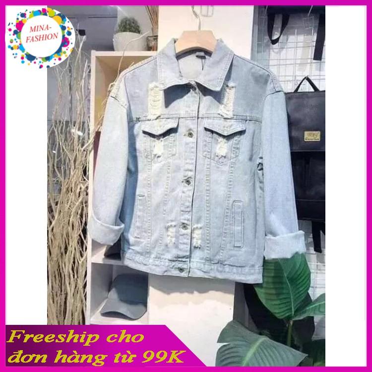 [HCM]*Free Ship 99k* --Hot Hot Áo Khoác Jean Dành Cho Nam AKJNA02<----- Mina-Fashion