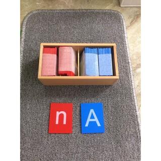 Giáo cụ Montessori Chữ nhám (Sandpaper Letters)