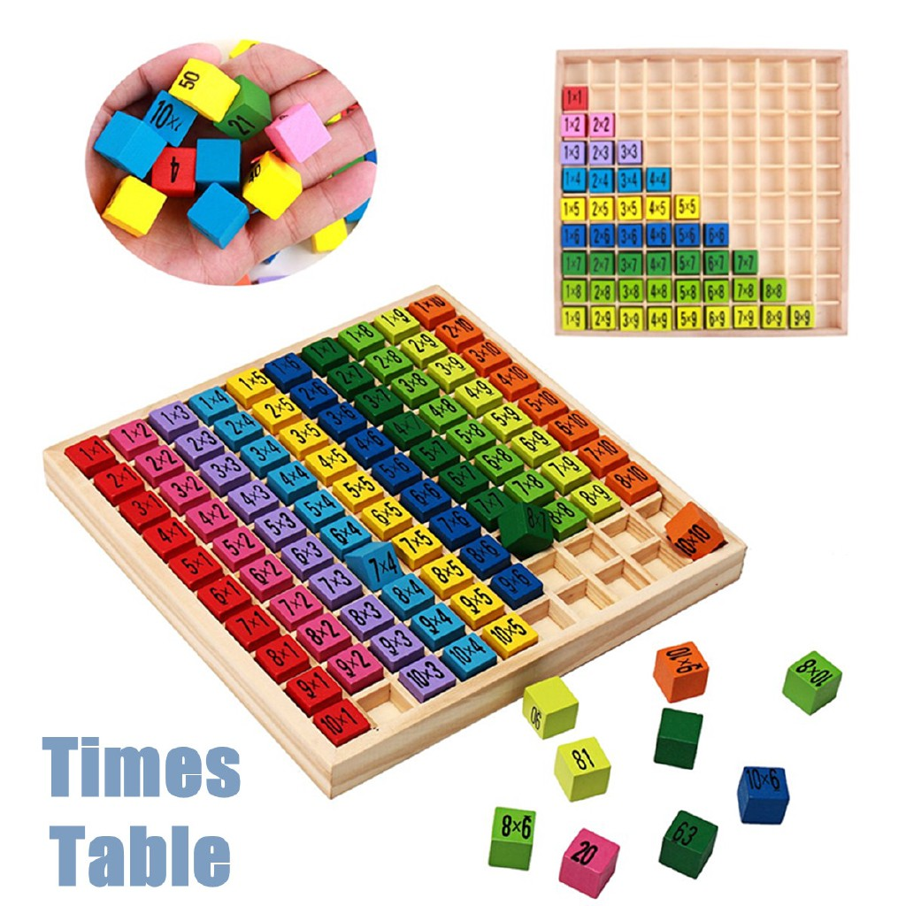 PL◇Wood Times Table Kid Children Educational Intellectual Developmental Toy Gifts