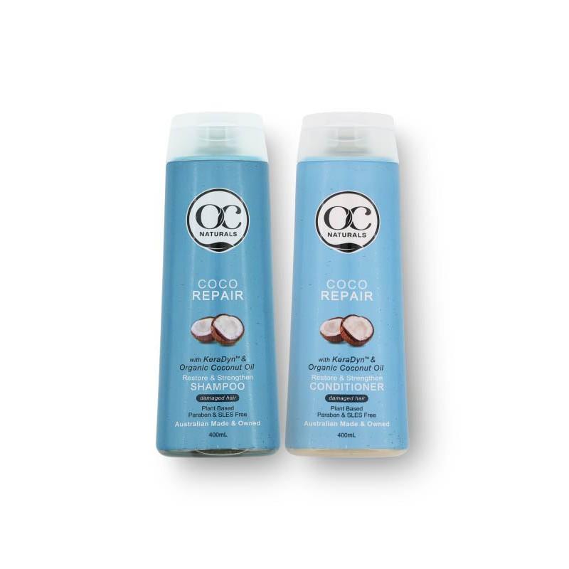 Bộ gội xả dưỡng tóc phục hồi tóc hư tổn Coco OC Naturals gốc thực vật nhập khẩu từ Úc