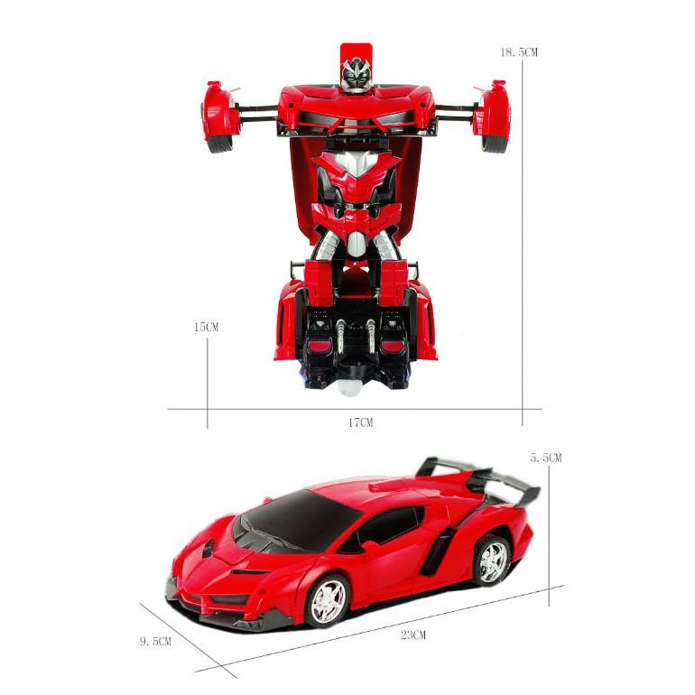 ô tô rô bốt biến hình có điều khiển có sạc pin