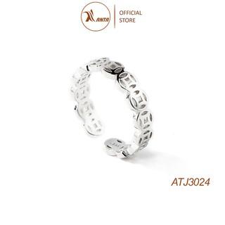 Nhẫn bạc 925 cao cấp Kim tiền bản mỏng, thời trang nữ đẹp - ANTA Jewelry ATJ3024 thumbnail