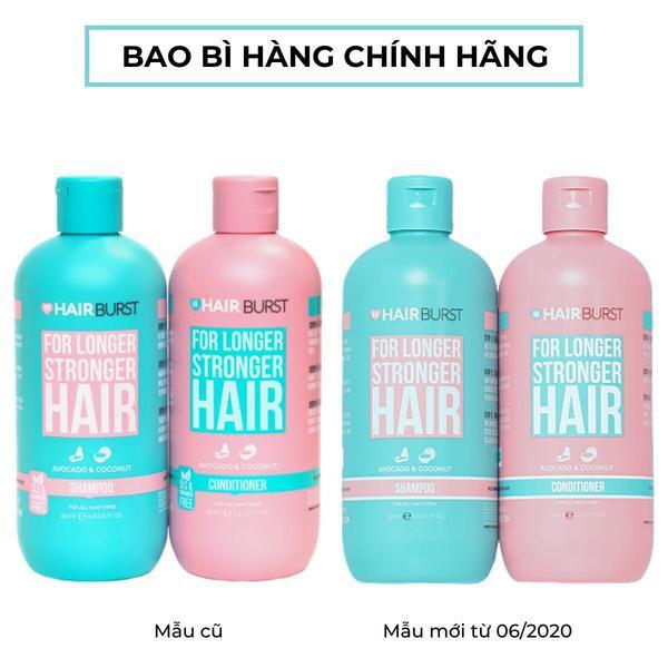 Bộ Dầu Gội Dầu Xả HAIRBURST Ngăn ngừa rụng tóc 350ml X 2 Món 700ml