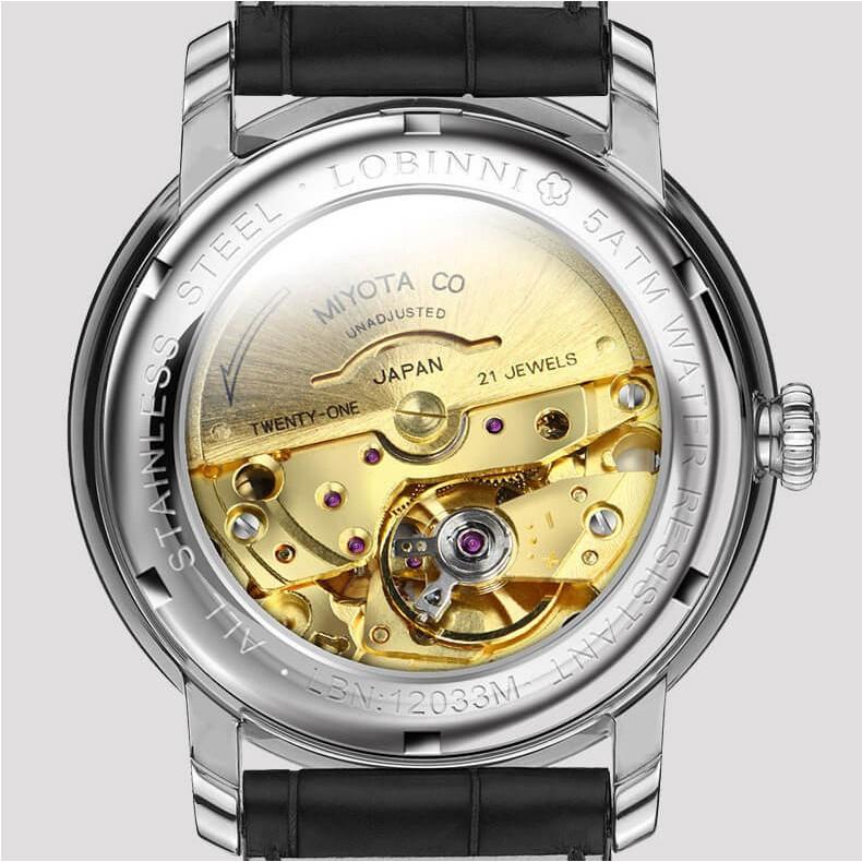 Đồng hồ nam chính hãng Lobinni No.12033-6