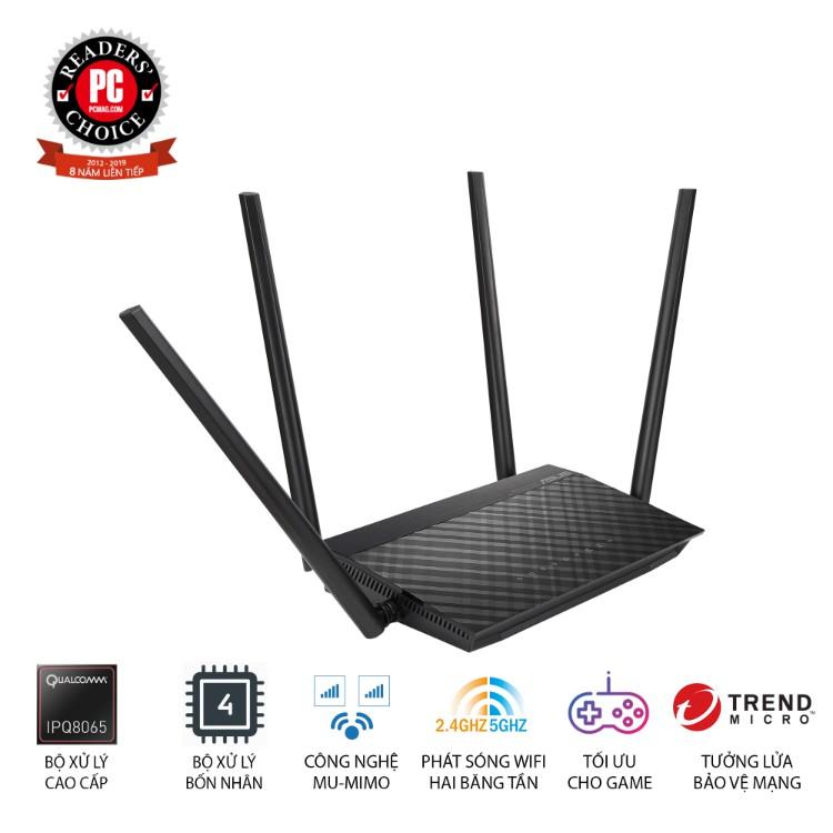 Thiết bị mạng Asus Router Wifi RT-AC1500UHP - Hàng chính hãng new 100%
