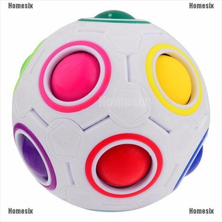 [HHMSI] Spherical Cube Rainbow Ball Football Magic Speed Cube Puzzle Children Educational Toys FWB