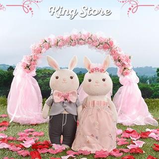 Thỏ bông đôi Metoo Tiramitu – Quà cưới cô dâu chú rể – Trang trí xe hoa- 38cm