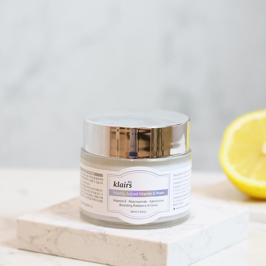 Mặt nạ ngủ/ Kem dưỡng da Klairs Freshly Juiced Vitamin E Mask