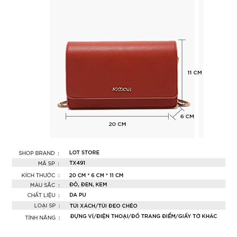 Túi xách nữ MICOCAH đeo chéo đẹp cao cấp công sở thời trang TX491