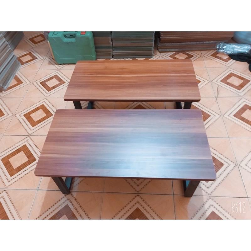 Bàn làm việc, bàn học, bàn ăn gấp gọn {GIÁ TẠI XƯỞNG} chân sắt ngồi bệt gỗ MDF (50*100 cao