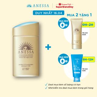 """[MÃ COS1604 -10% ĐƠN 250K]Sữa chống nắng dưỡng da bảo vệ hoàn hảo Anessa Perfect UV Sunscreen Skincare Milk 60ml _16152 giá chỉ còn <strong class=""""price"""">49.500.000.000đ</strong>"""