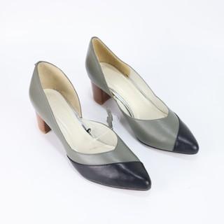 Giày cao gót Cillie da bò cao 5cm 1079