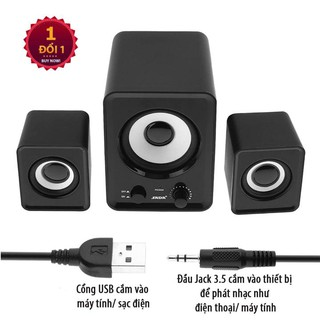 Loa Bass ấm Nghe Nhạc Điện thoại Máy tính, PKCB 201 Speakers PF94