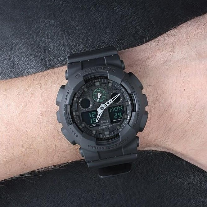 Đồng hồ Nam Dây Nhựa Casio G-Shock GA-100MB-1A chính hãng bảo hành 5 năm Pin trọn đời