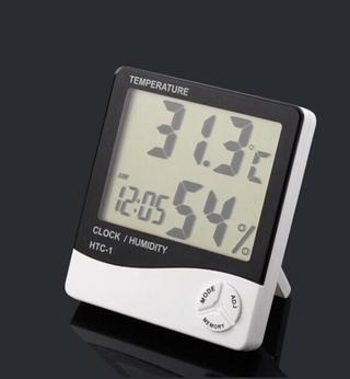 ☀️ Đồng hồ điện tử đo độ ẩm nhiệt độ LCD HTC1