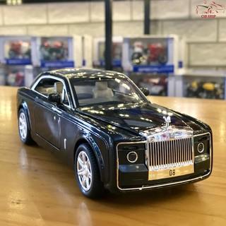 Xe mô hình ô tô siêu xe Roll Royce Sweptail tỉ lệ 1/24 hãng XLG màu đen